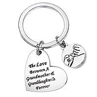 おばあちゃんのqiierのThe Love Between aおばあちゃんと孫娘is Foreverキーチェーン