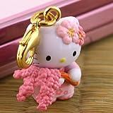 ハローキティ◆さくらきてぃの和心◆枝垂れ桜 ファスナーマスコット