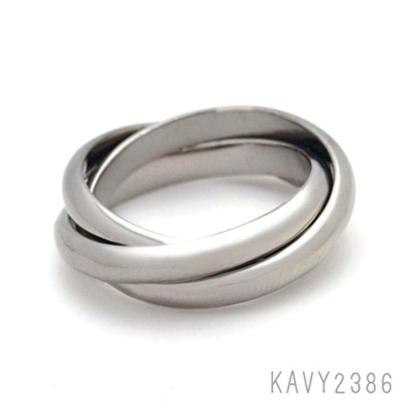 科学大混乱葉っぱ指輪 リング 上品な、トリニティデザイン 素敵な トリプルオーバーラップリング ブラックメタル