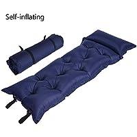 エアーマット キャンプ?寝袋用 キャンピングマット ピロー付き エアーベッド 厚さ5cm レジャー徒歩 登山 キャンプ アウトドア 収納袋