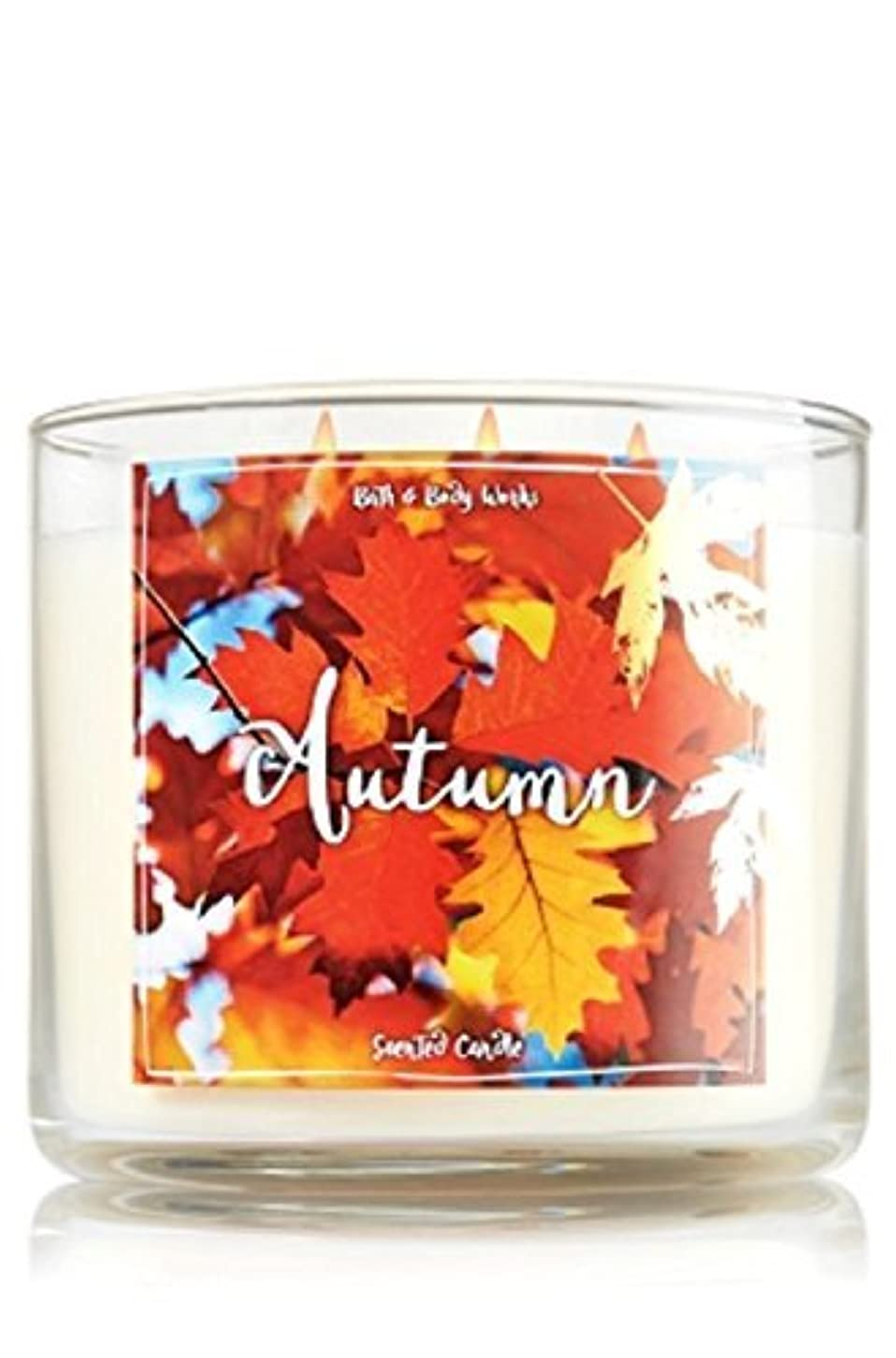 頼むしっかり石化するBath and Body Works Autumn Candle - Autumn Scent 14.5 oz Large 3-wick Candle for Fall [並行輸入品]