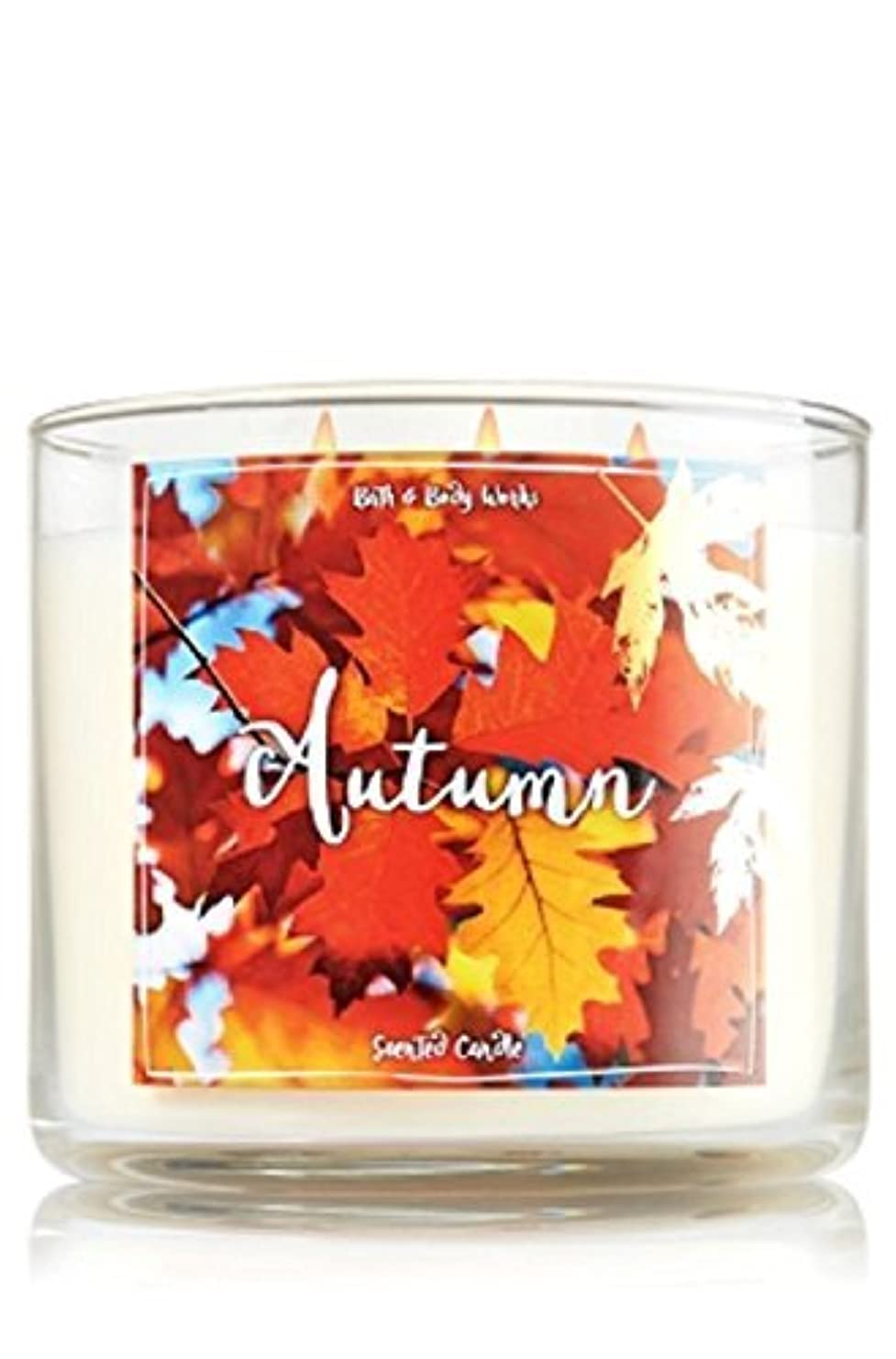 付けるかご兄Bath and Body Works Autumn Candle - Autumn Scent 14.5 oz Large 3-wick Candle for Fall [並行輸入品]