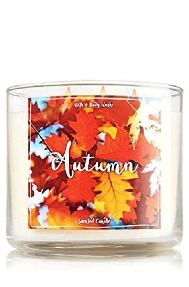大気デコレーションBath and Body Works Autumn Candle - Autumn Scent 14.5 oz Large 3-wick Candle for Fall [並行輸入品]