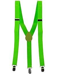 BOBORA サスペンダー Y型 無地 スリング 弾性 調節可能 ブレース クリップオン 安定感のある幅広タイプ 男女兼用 幅2.5cm 長さ100cm メンズ レディース カジュアル エステル