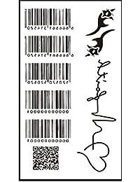 タトゥーシール バーコード QRコード 心電図