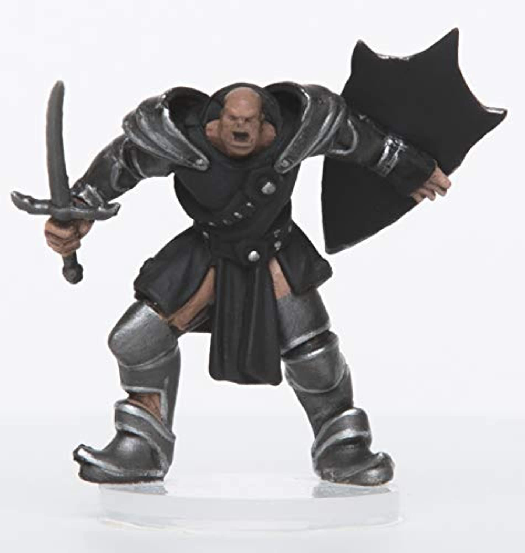 アドベンチャーのキャラクター - オスオークパラディン - プラスチックミニチュア D&Dまたはパスファインダー用