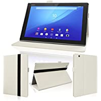 wisers タッチペン付 Sony Xperia Z4 Tablet SGP712JP SO-05G SOT31 タブレット 専用 フロントスタンド タイプ ケース カバー ホワイト