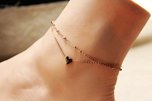 【TS Select Shop】 【star chart Jewelry】 アンクレット ハート ダブルチェーン ゴールド