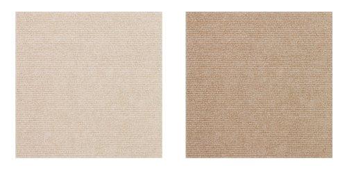サンコー おくだけ吸着 おくだけタイルマット ベージュセット(ベージュ10枚+ライトベージュ10枚) 25×25cm 計20枚組 OF-64