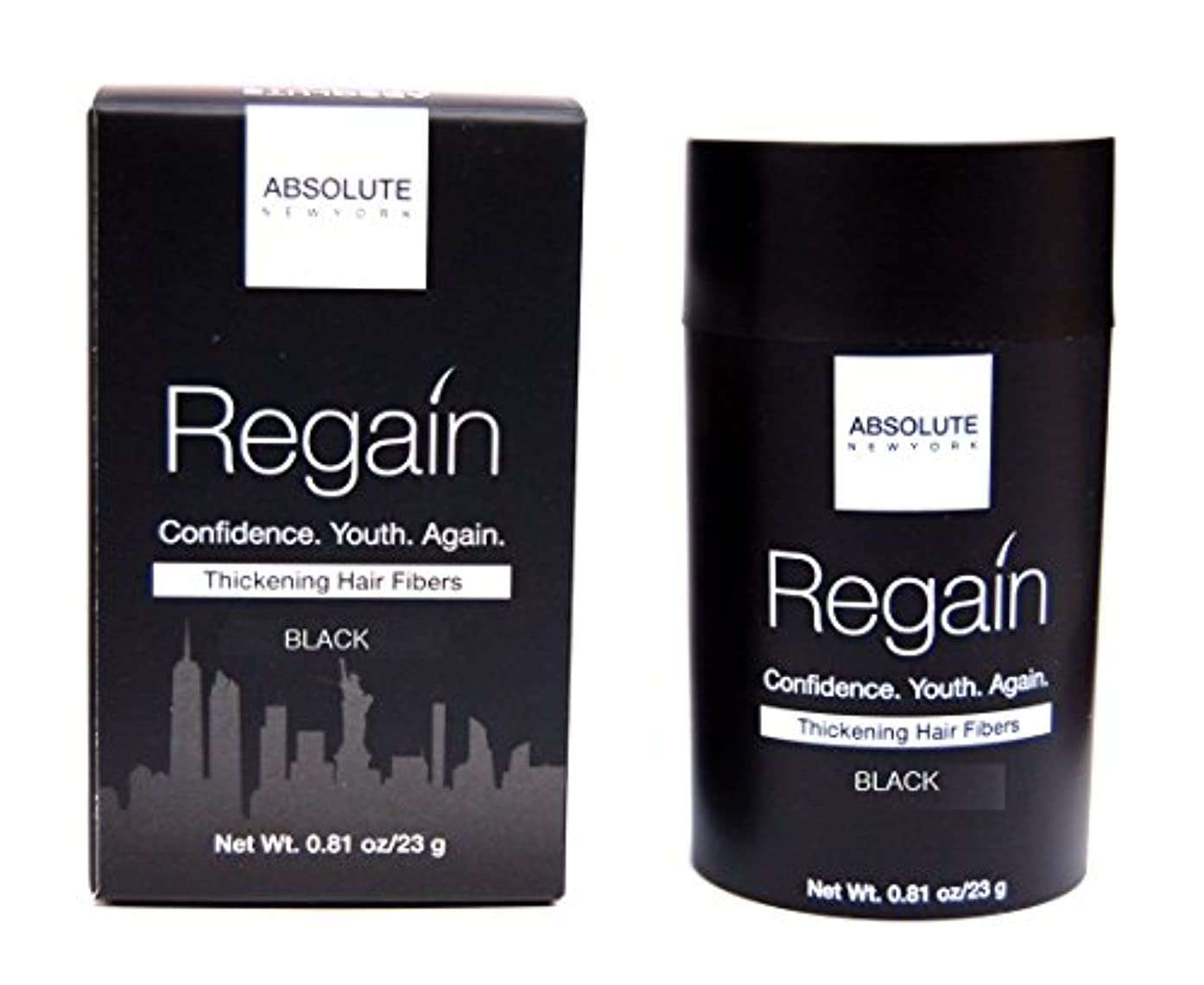 混合言う発生Absolute Regain Hair Fiber Large Size - Black (並行輸入品)