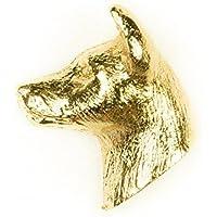 バセンジー イギリス製 22ctゴールドプレート アート ドッグ ピンバッジ コレクション