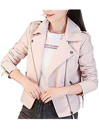 266a5d8c31447 Qingxian レザージャケット レディース アウター 女性スリム レザージャケット ジッパーコートために春と秋の冬 暖かい 防風 人気  ライダースジャケット…