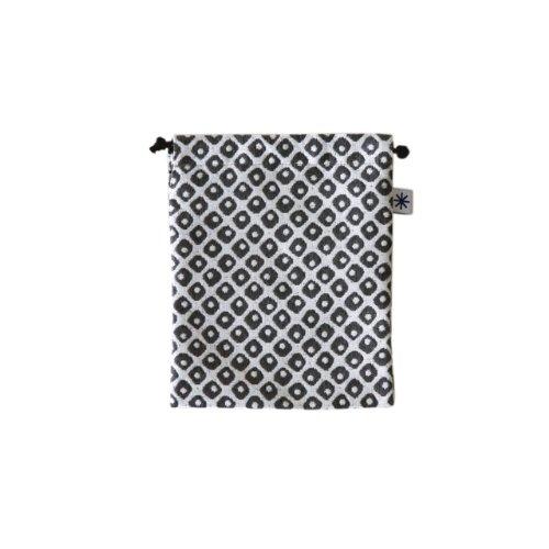 米織小紋・巾着袋(中) (鹿の子)