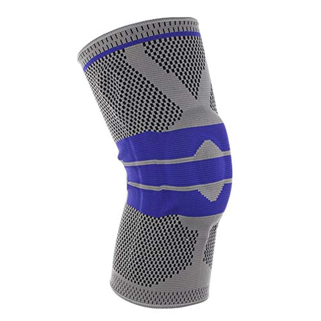 OLDFスポーツ膝パッドシリコンスプリングニット膝パッドバスケットボールクライミングを実行する膝サポーターひざ