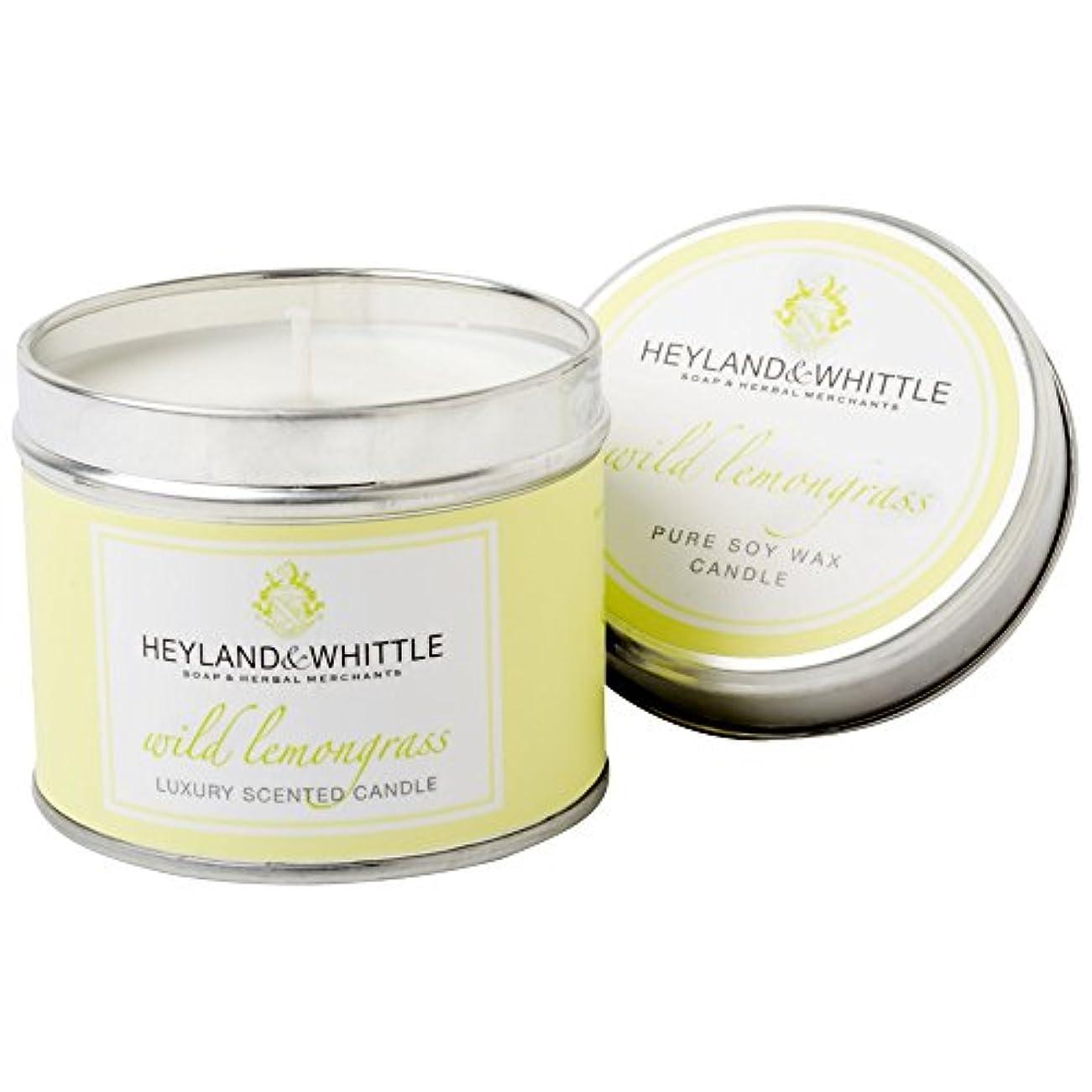 構成する先行する読書Heyland&削るレモングラスキャンドルスズ (Heyland & Whittle) - Heyland & Whittle Lemongrass Candle Tin [並行輸入品]