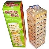 Ren He バランスゲーム 天然 木製 積み木ブロック 立体パズル プレゼント 54点セット 木製 ドミノ遊び 知育玩具