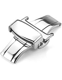 [REOTTI] 時計バンド 時計ベルト 腕時計 Dバックル ワンプッシュ式 観音開き 尾錠