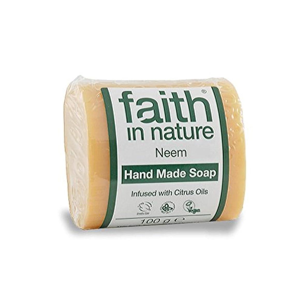 学校の先生家族擁するFaith in Nature Neem & Propolis Soap 100g (Pack of 2) - 自然ニーム&プロポリス石鹸100グラムの信仰 (x2) [並行輸入品]