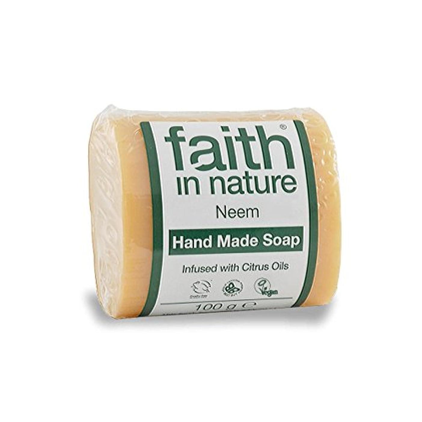 猛烈な固体荷物Faith in Nature Neem & Propolis Soap 100g (Pack of 6) - 自然ニーム&プロポリス石鹸100グラムの信仰 (x6) [並行輸入品]
