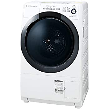 シャープ  ドラム式 洗濯乾燥機 ヒーターセンサー乾燥 右開き(ヒンジ右) 洗濯7kg/乾燥3.5kg ホワイト系 幅640mm 奥行600mm DDインバーター搭載 ES-S7D-WR