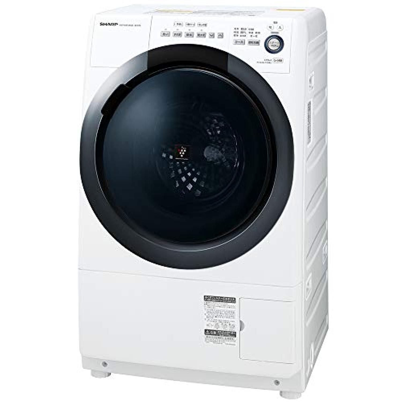 シャープ  SHARP  ドラム式洗濯乾燥機(ヒーターセンサー乾燥) 右開き(ヒンジ右) 洗濯7kg/乾燥3.5kg ホワイト系 幅640mm  奥行600mm  DDインバーター搭載 ES-S7D-WR