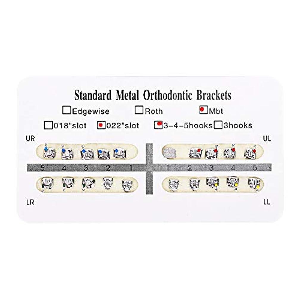タンザニア耐えられる暗黙NITRIP 10パック 歯科矯正ブラケット クリニーク歯科ツール (Mbt)