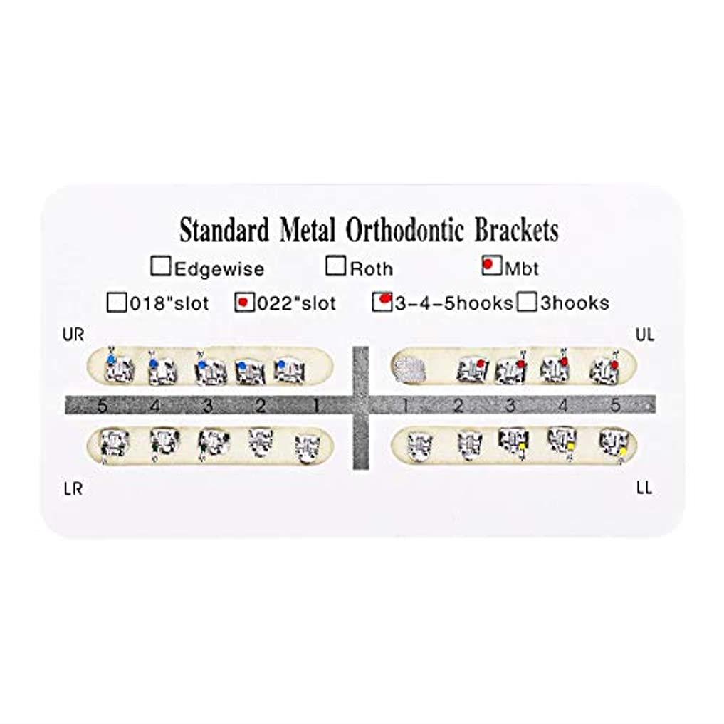 吹雪が欲しい解明NITRIP 10パック 歯科矯正ブラケット クリニーク歯科ツール (Mbt)