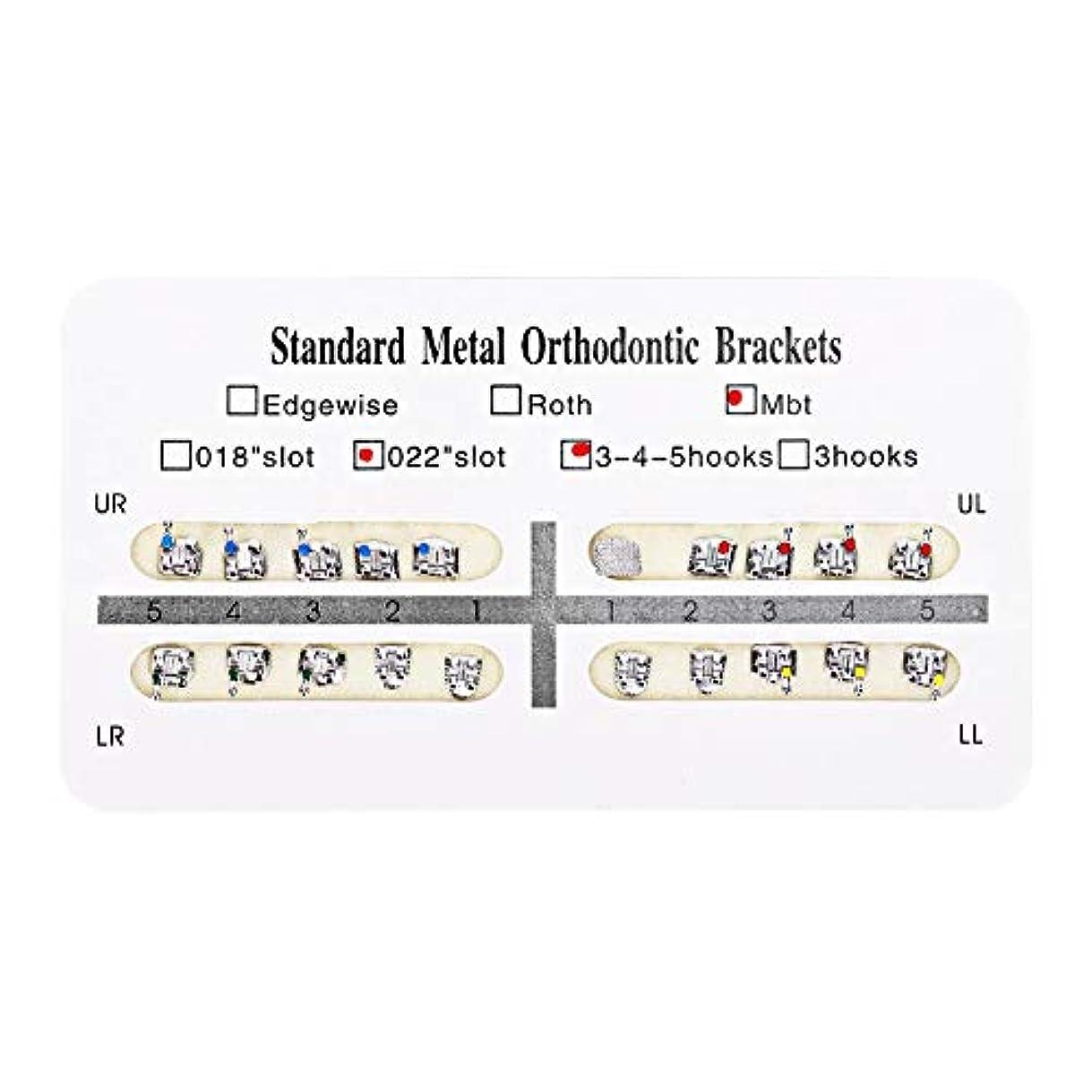 パウダー管理階NITRIP 10パック 歯科矯正ブラケット クリニーク歯科ツール (Mbt)