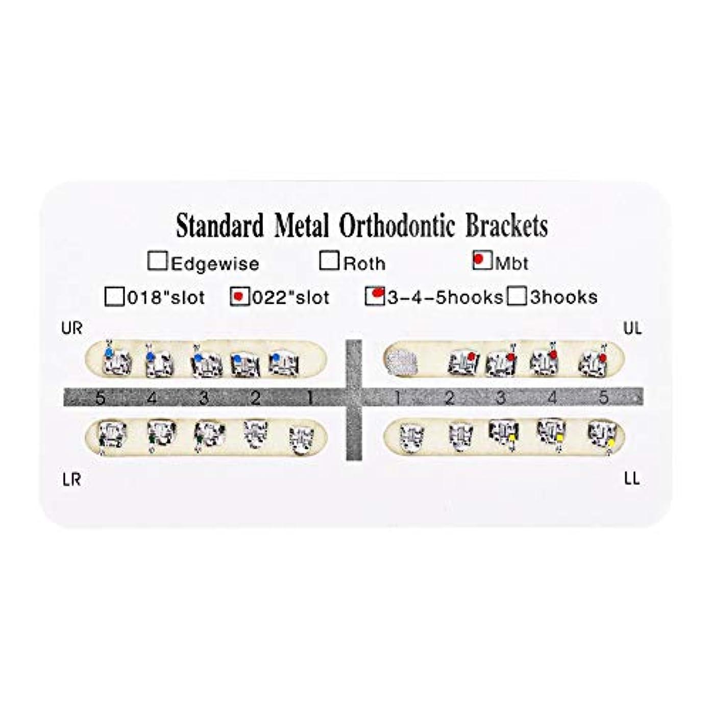 フォルダ思春期バウンスNITRIP 10パック 歯科矯正ブラケット クリニーク歯科ツール (Mbt)