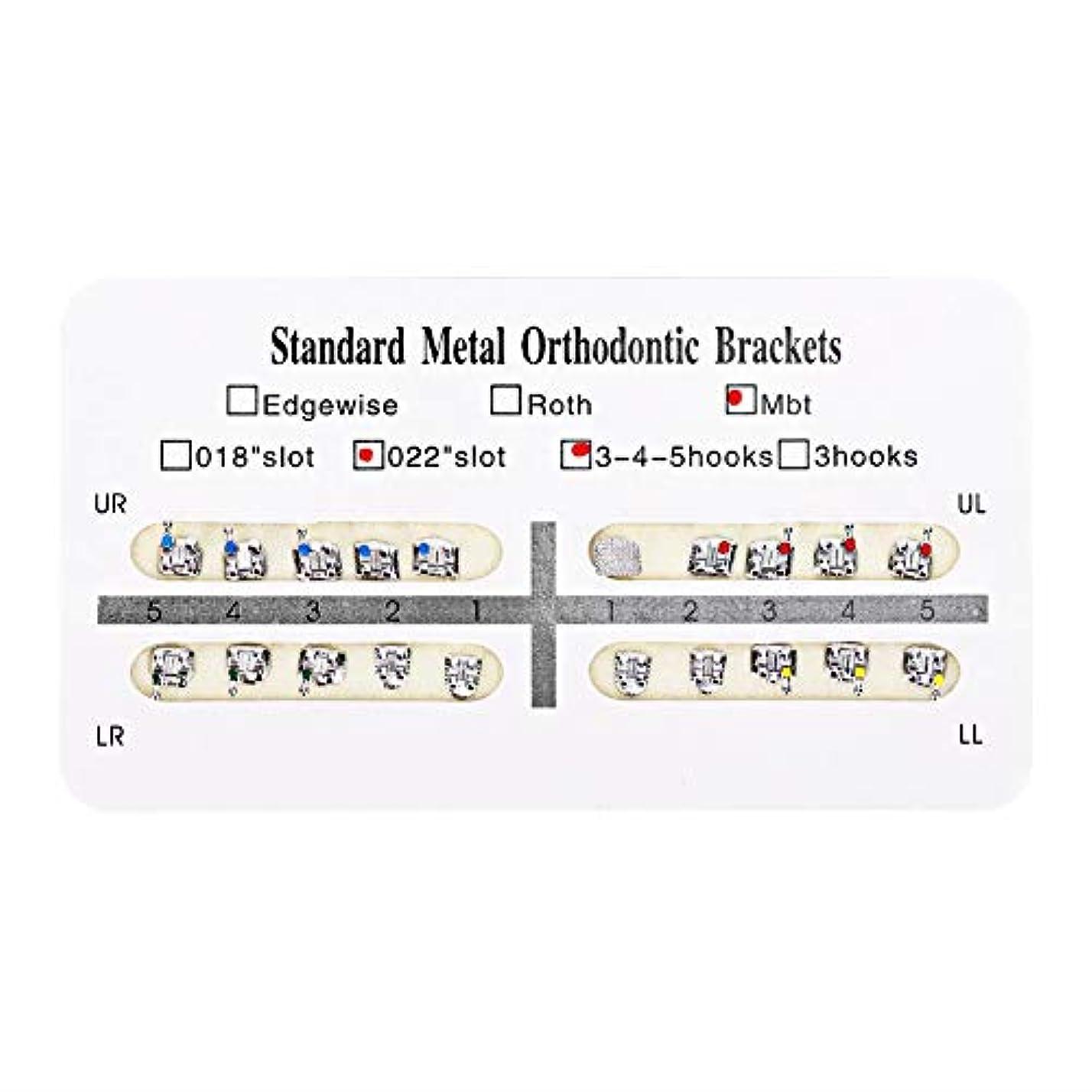 ばかげた飼料光のNITRIP 10パック 歯科矯正ブラケット クリニーク歯科ツール (Mbt)