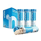 Nuun Sport: Electrolyte-Rich Sports Drink Tablets, Tropical, Box of 4 Tubes (40 servings), Sports Drink for Replenishment of Essential Electrolytes Lost Through Sweat
