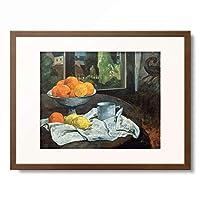 ポール・ゴーギャン Eugene Henri Paul Gauguin 「Oranges et citrons avec vue sur Pont-Aven」 額装アート作品