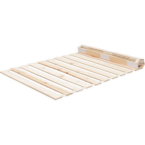 すのこベッド 檜 ロール式 通気性 シングル 天然木