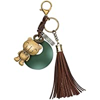 JOUDOO Antique Keychain with Tassels and Bear Keyring GJ015