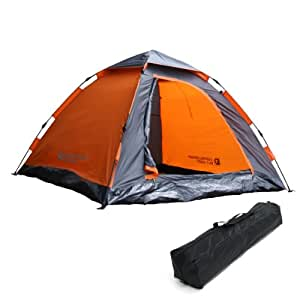 DOPPELGANGER OUTDOOR 2-3人用 ワンタッチテント T3-30 紐を引くだけの15秒設営!  重量3.5kg