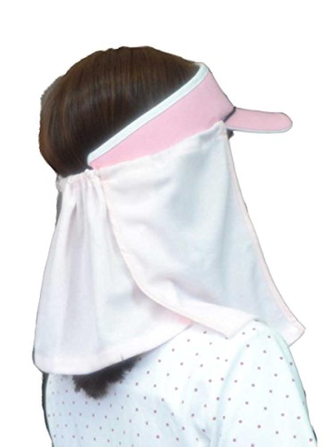 特異な違反暗殺するUVカット帽子カバー?スズシーノ?(ピンク)紫外線対策や熱射病、熱中症対策に最適【特許取得済】