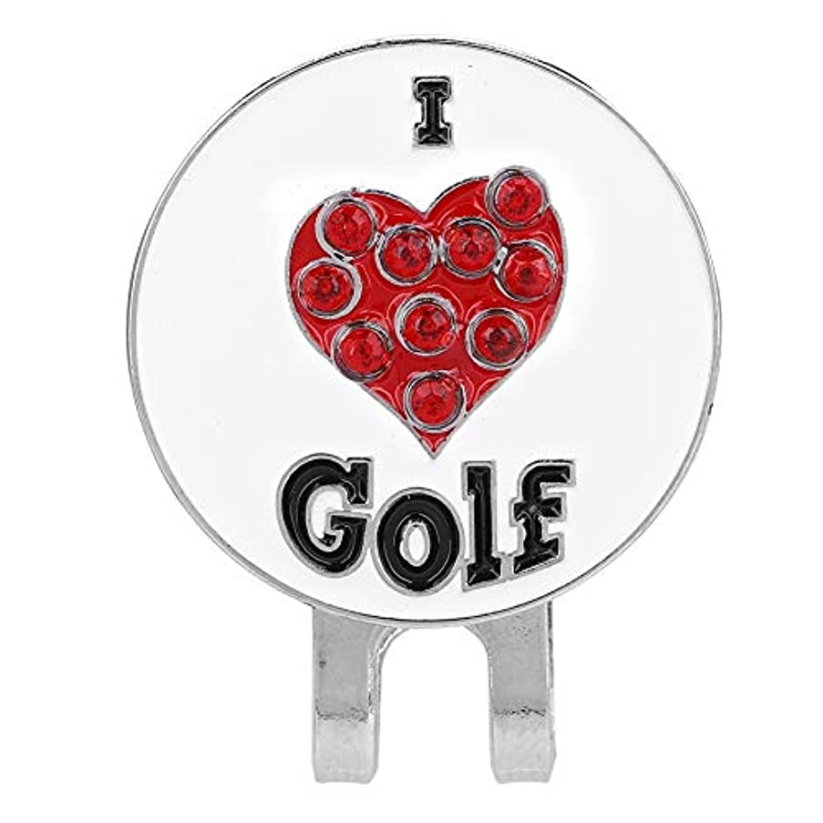 スリッパブラザーディレクターゴルフボールマーカー、耐久性のあるゴルフマーカーメタル??ゴルフミニ磁気ボールマーカーゴルファー帽子バイザークリップアクセサリー