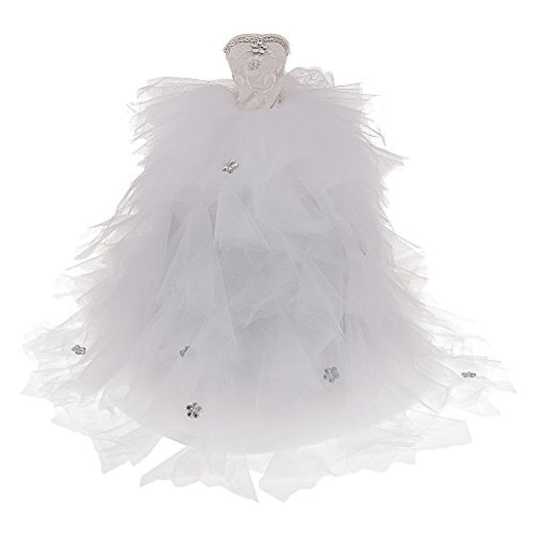 [ no brand goods ]バービーファッションストラップレス花嫁ウェディングパーティードレスホワイトギフト