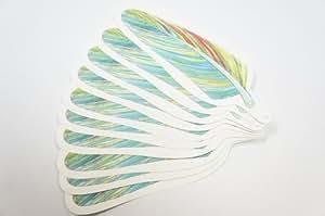 羽根のメッセージカード 【カラフル 50枚セット】
