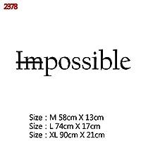 Mxl-Stickers 意欲を高める大規模オフィス引用フレーズビニールウォールステッカーデカールのためにリビングルームのベッドルーム教室事務所壁紙装飾 (色 : Style4, サイズ : Size L)