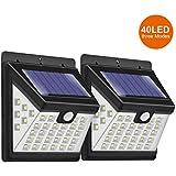 Solar Lights Outdoor 40 LED, Wireless Waterproof Motion Sensor Lights with 270° Wide Angle, Wall Lights for Garden, Front Door, Yard, Deck, Garage