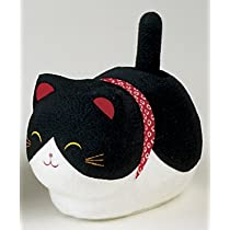 リュウコドウ ゆらゆらソーラー座り猫 黒猫 置き物 40-171C