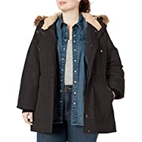 Madden Girl Womens Multi Pocket Insulated Coat Down Alternative Coat - Black - 3X