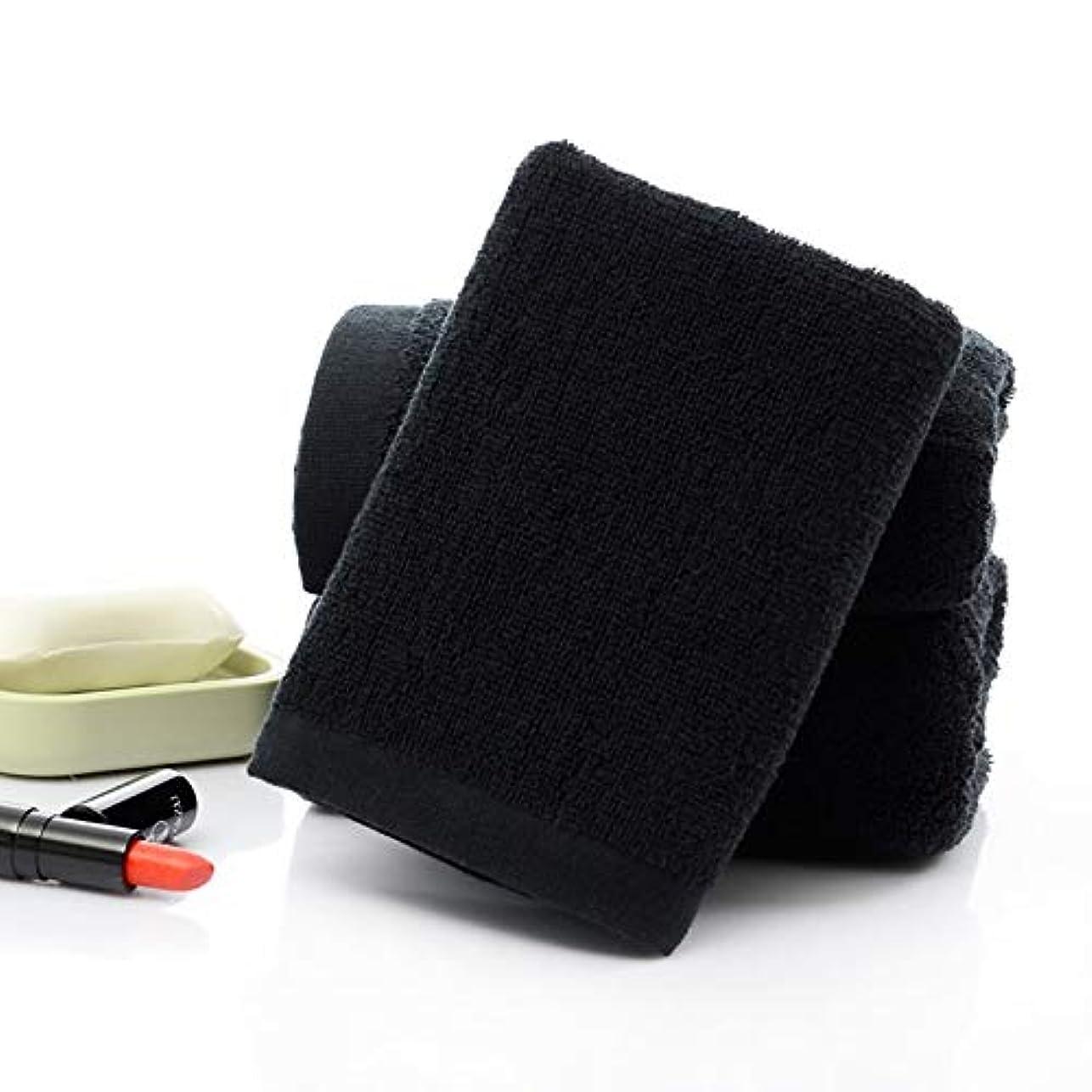 ペチュランス該当する寄付するMaxcrestas - 35 * 75センチメートル魅力の女性の大人のための黒タオルソリッドコットンフェイスタオルホテルのバスルーム美容院ホーム乾燥ソフト手ぬぐい