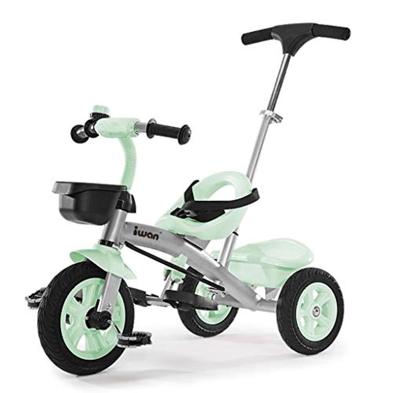 三輪車 - 空気入りタイヤが不要(ピンク/グリーン) ( Color : 2 )