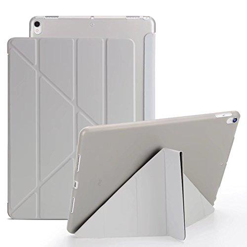 iPad Mini 3 Case, iPad Mini 2 Case, VMAE Origami Smart Cover, Ultra Slim Lightweight Cover, Muti-Angle Stand Folio Case With Auto Wake and Sleep Feature for iPad Mini 1/2/3 - Grey