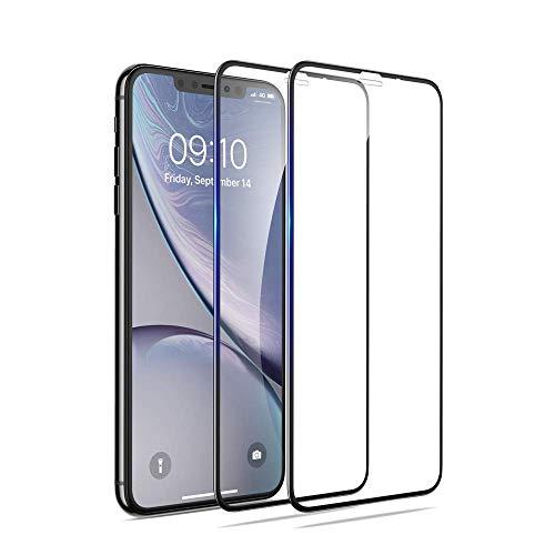 【2枚セット】 iPhone XR ガラスフィルム 簡単貼付 アイフォン XR 全面保護 フィルム 強化ガラスタイプ iPhone XR 保護フィルム 6.1インチ対応 「全画面ガラス保護」 5D 高硬度9H/自動吸着/気泡ゼロ/指紋保護/高透過率 [FUUPNN]