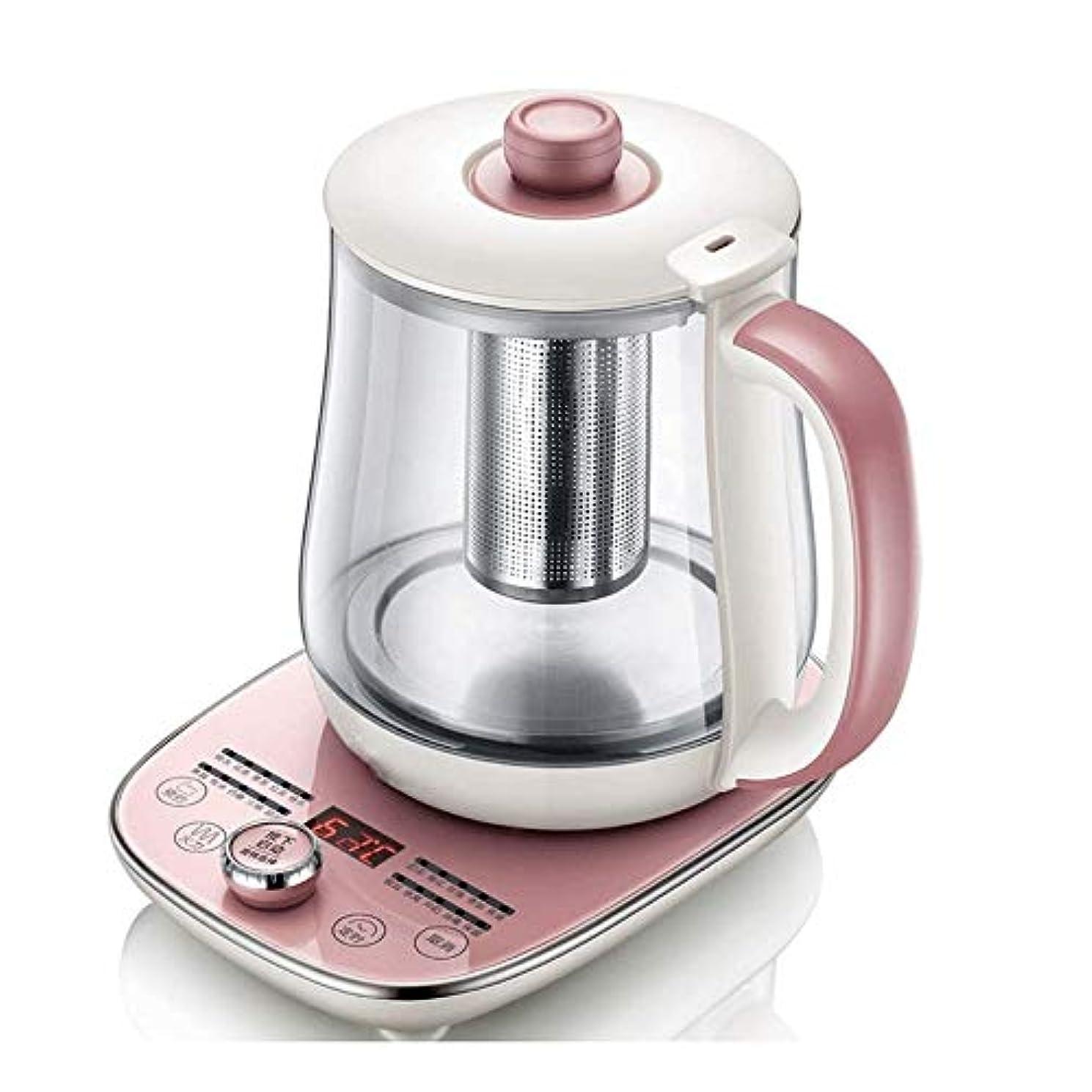 嵐の考慮祖父母を訪問Big Shark 電気ポット電気ケトルのためにコーヒーや紅茶オーバー注ぎ、温度可変多機能電気ホットポットの花茶ポットピンクのお茶を煮ウォーム