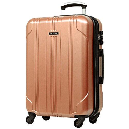 L型 ローズゴールド/SELICA-F TSAロック搭載 スーツケース キャリーバッグ ストッパー付 大型 (5~10日用)