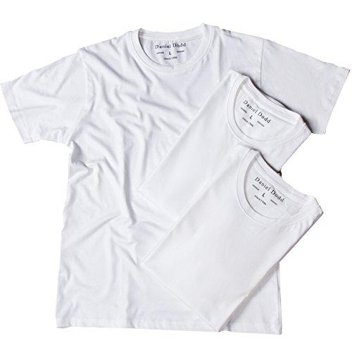 クルーネック オーガニックコットン 5.3オンス Tシャツ 3枚組 メンズ M